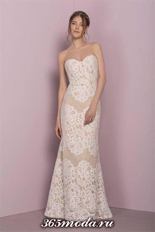 свадебное кружевное платье цветное