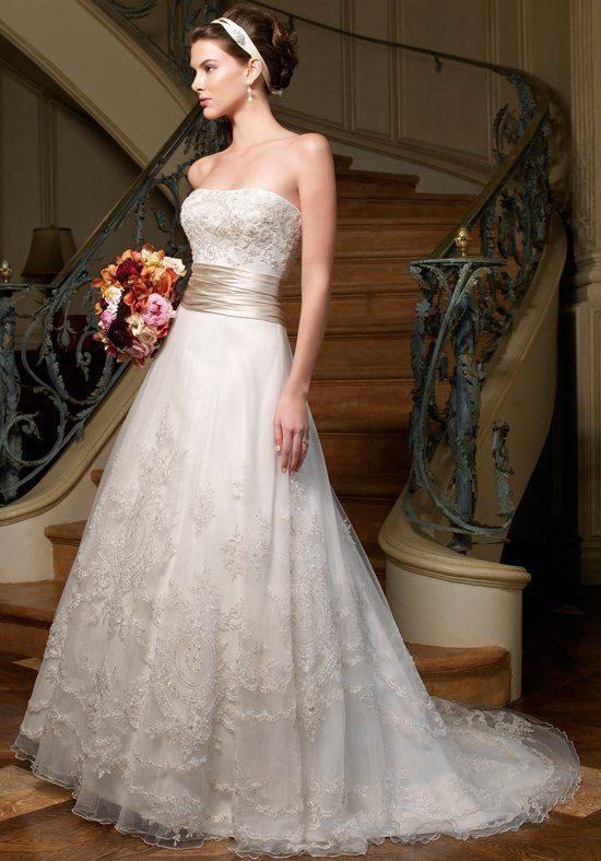 свадебное платье бюстье кружевное с поясом