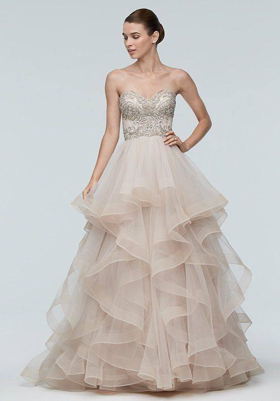 свадебное платье бюстье цветное многослойное