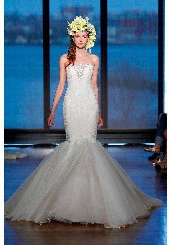свадебное платье бюстье белое русалка