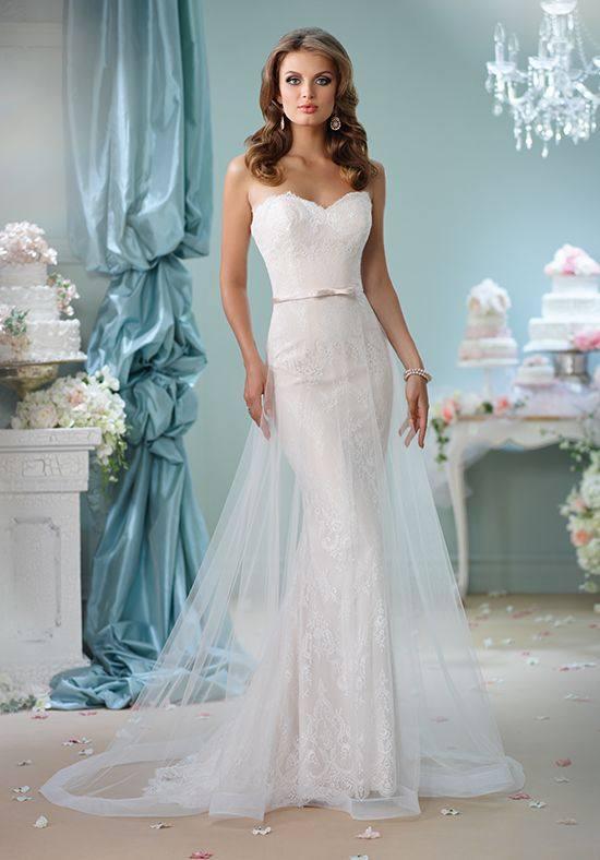 свадебное платье бюстье русалка с фатой