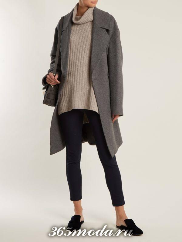 черные брюки скинни осень-зима