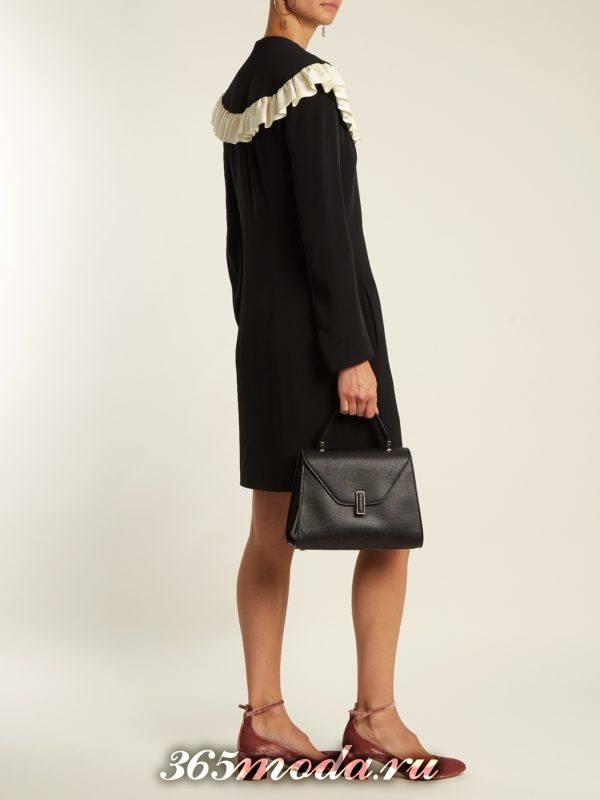 мини платье с воротником осень-зима