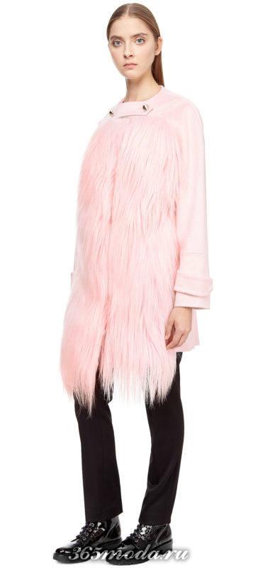 короткое меховое пальто осень-зима