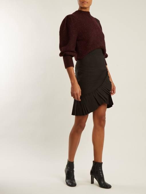 мини юбка с запахом осень-зима