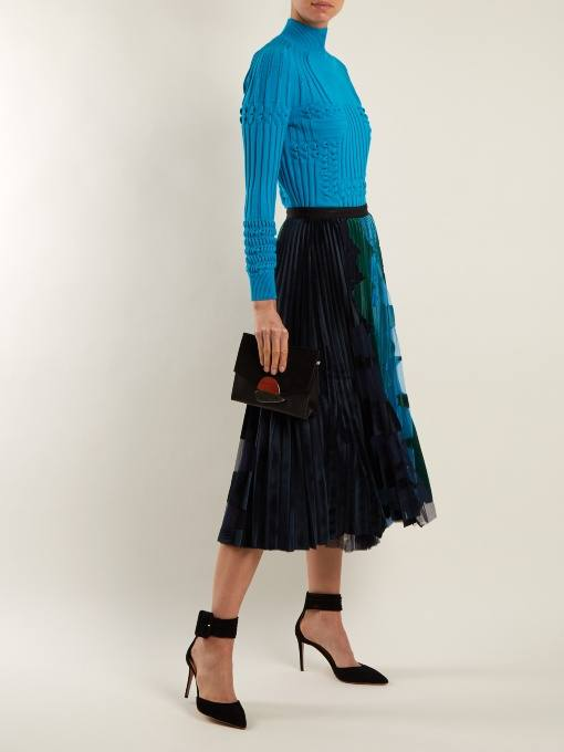 юбка плиссе с декором осень-зима
