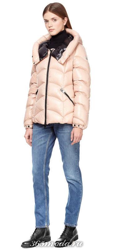 короткая куртка-пуховик осень-зима
