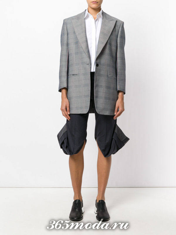 укороченные брюки капри со сборкой