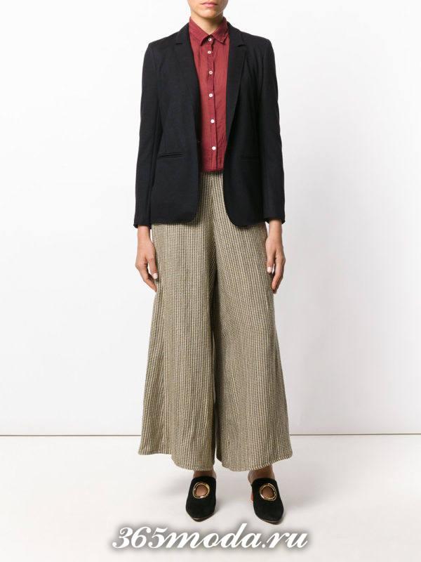 укороченные брюки кюлоты цветные