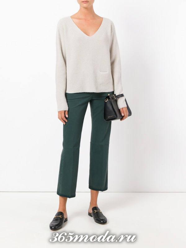 укороченные брюки чинос цветные