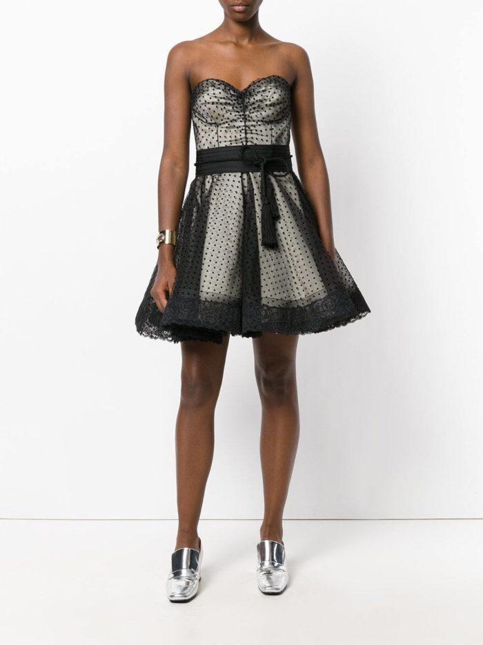 короткие платья на выпускной: с корсетом многослойное