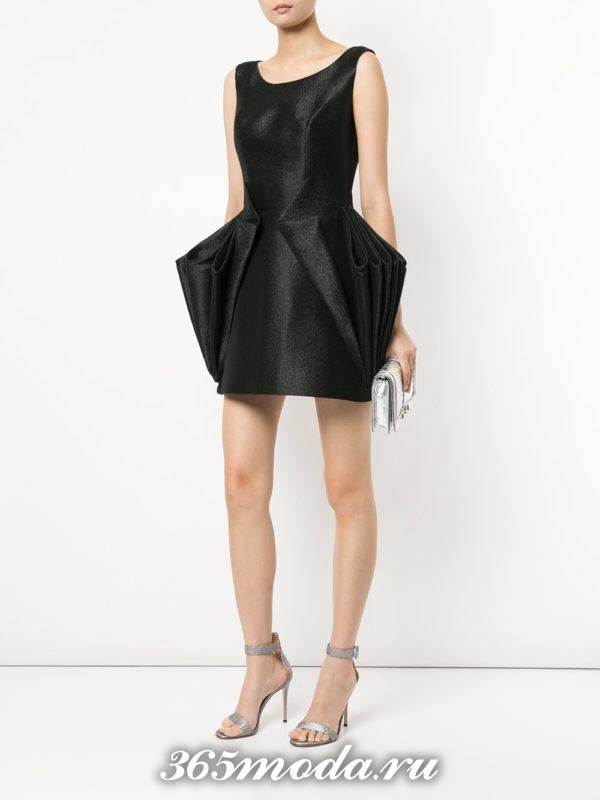 кроткое черное платье тюльпан на выпускной