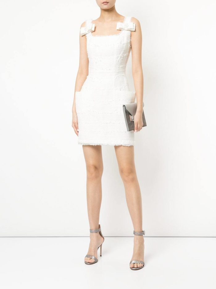 короткие платья на выпускной: белое тюльпан