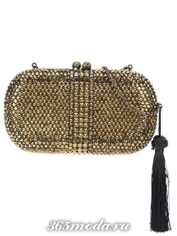 золотая сумка клатч для выпускного