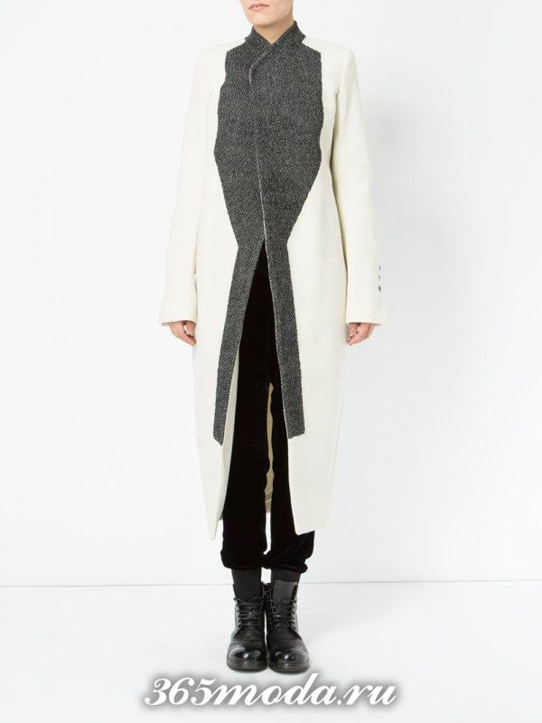 асимметричное пальто миди осень-зима