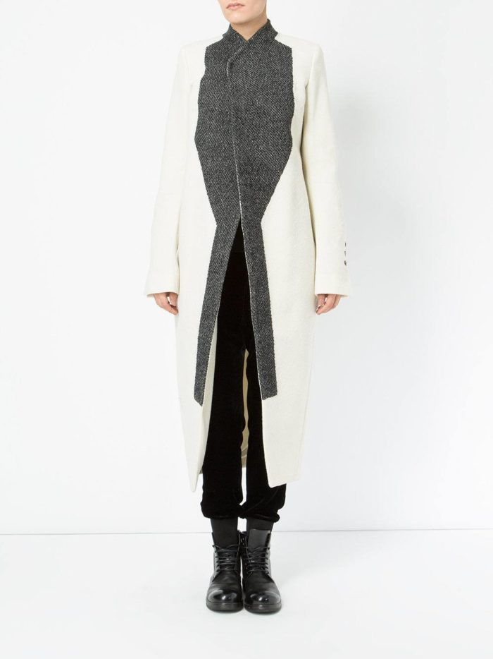 Верхняя одежда осень-зима 2019-2020: асимметричное пальто миди