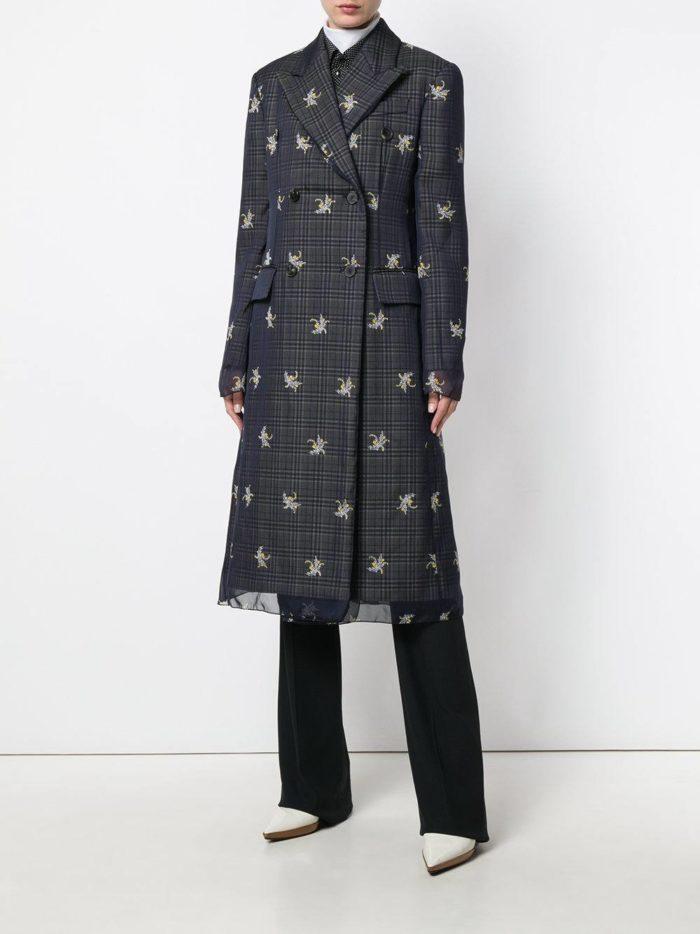 Верхняя одежда осень-зима 2019-2020: пальто миди с принтом