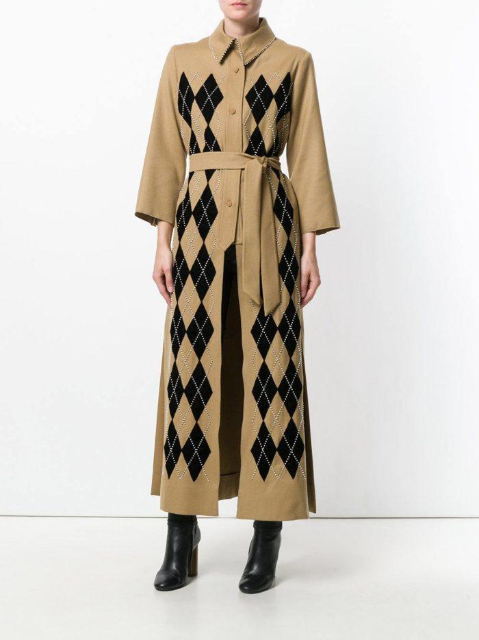 Верхняя одежда осень-зима 2019-2020: макси пальто с принтом