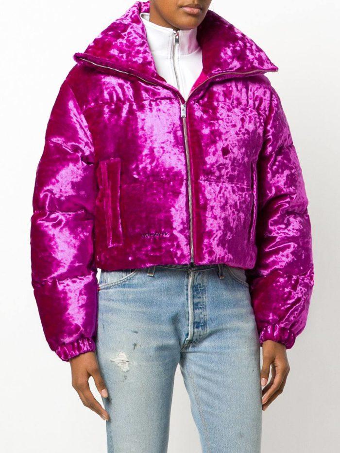 Верхняя одежда осень-зима 2019-2020: бархатный короткий пуховик