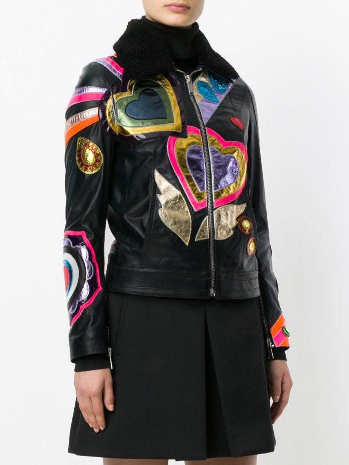 кожаная куртка с рисунками