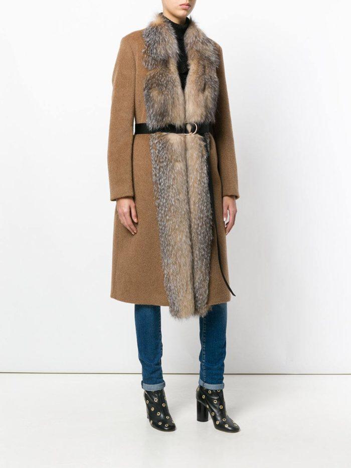 Верхняя одежда осень-зима 2019-2020: пальто миди с мехом