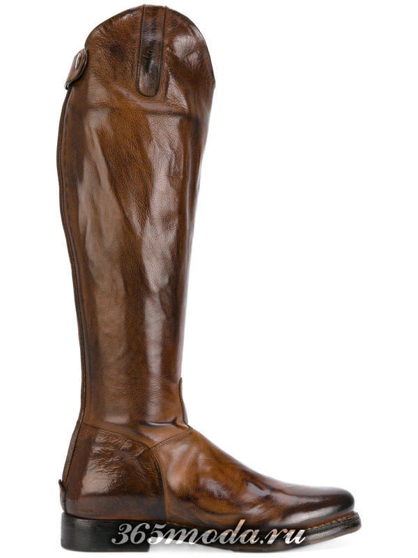 зимние ковбойские сапоги без каблука