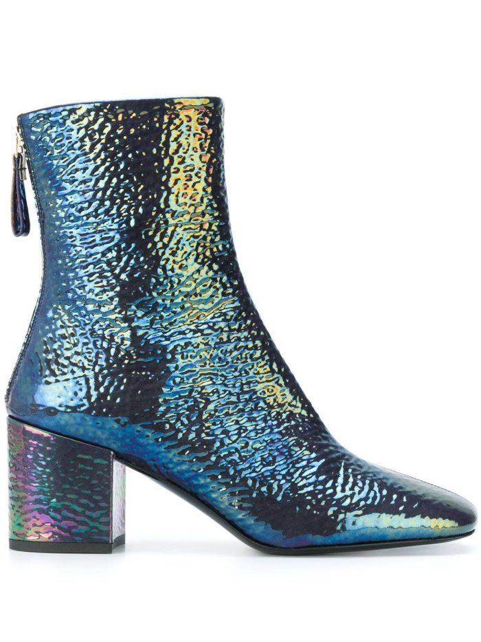 блестящие ankle на каблуках