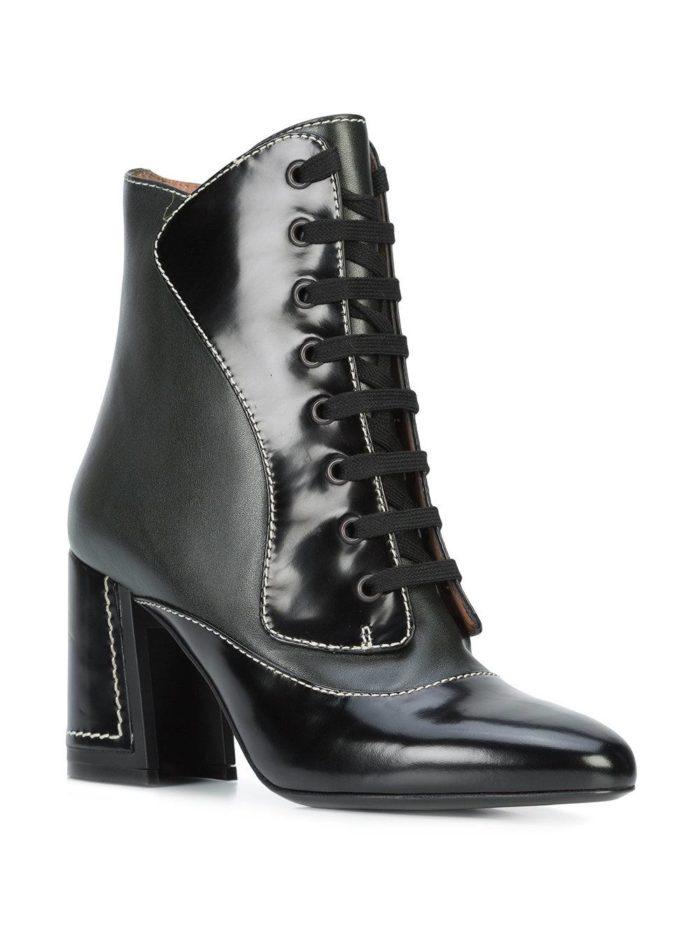 черные ankle со шнуровкой