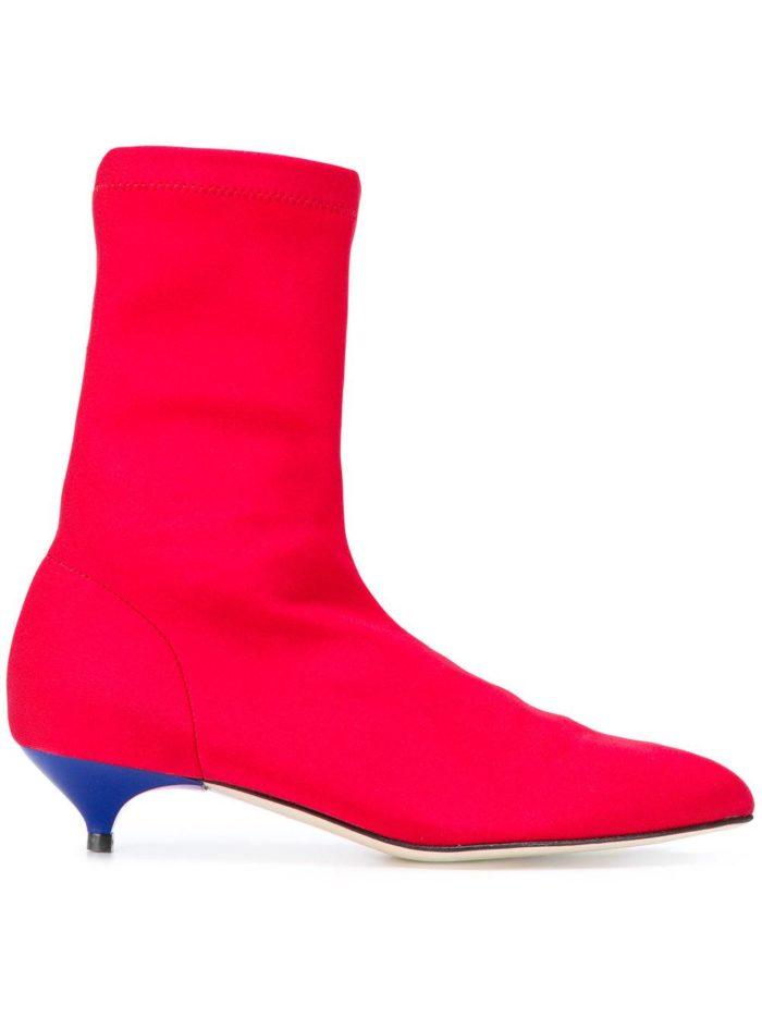 розовые ankle на низких каблуках