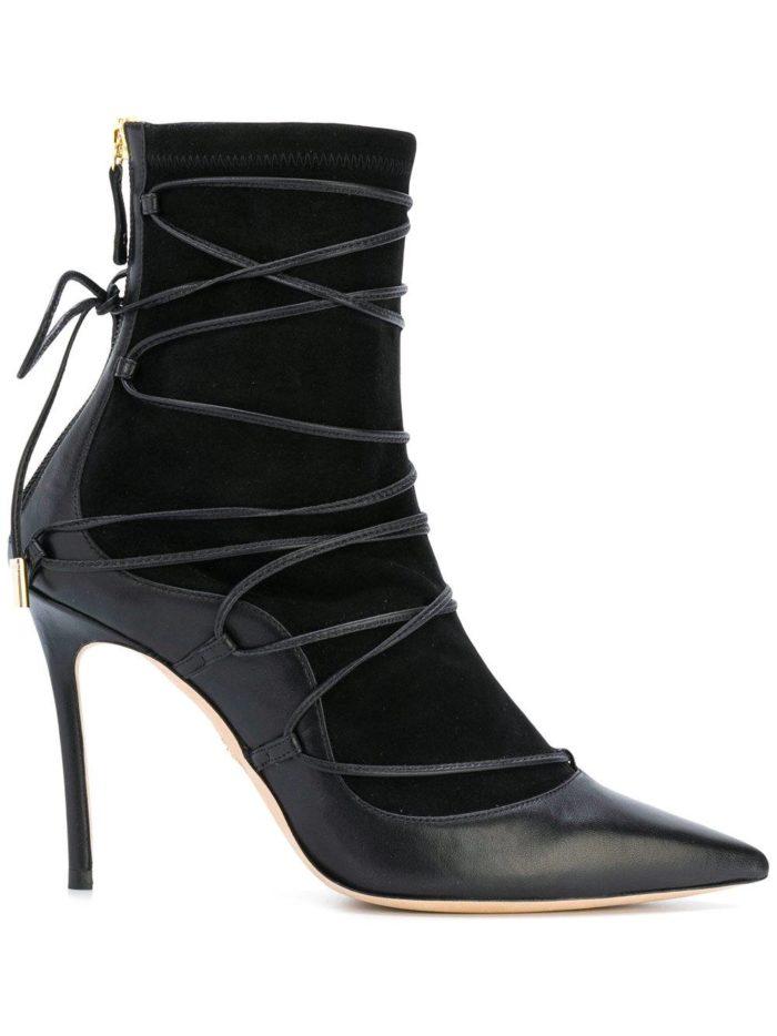 модные комбинированные на шпильке со шнуровкой