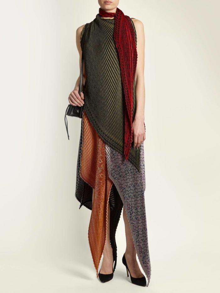новогоднее асимметричное платье колорблок для знака зодиака телец