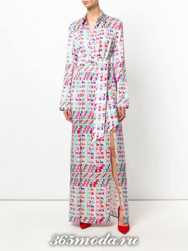 новогоднее платье-халат с принтом для знака зодиака близнецы