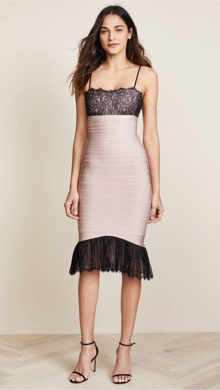 новогоднее платье футляр с декором для знака зодиака рак