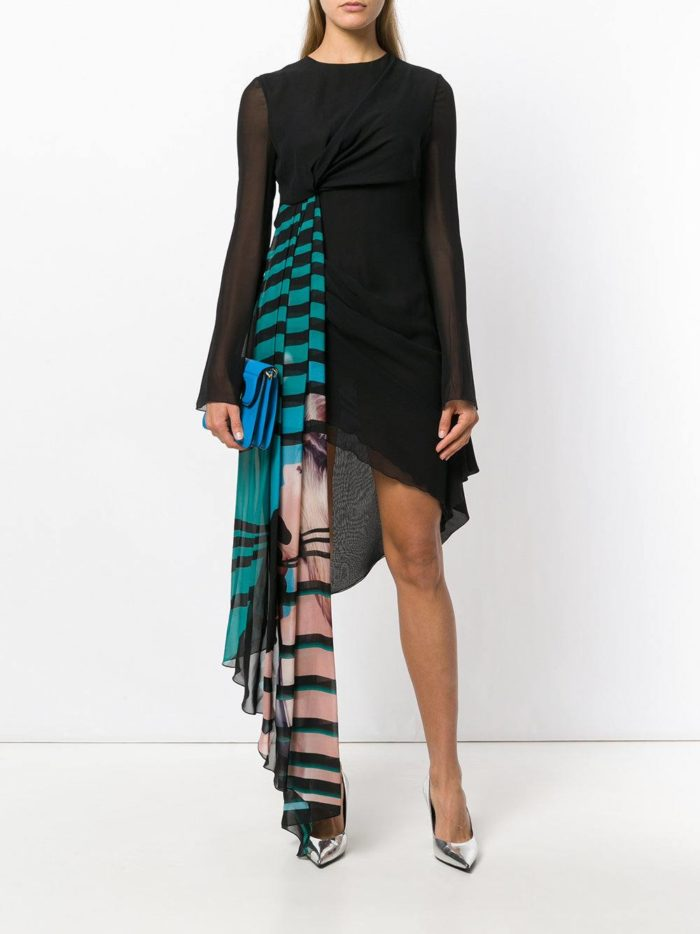 новогоднее асимметричное платье с декором для знака зодиака весы