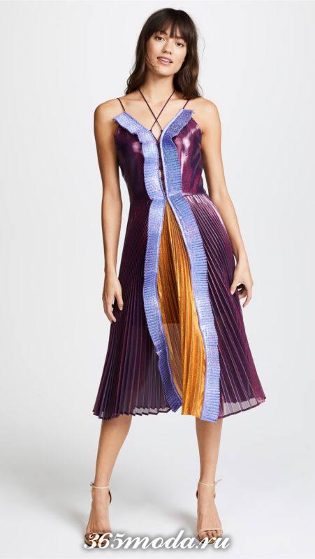 новогоднее платье плиссе колорблок для знака зодиака козерог