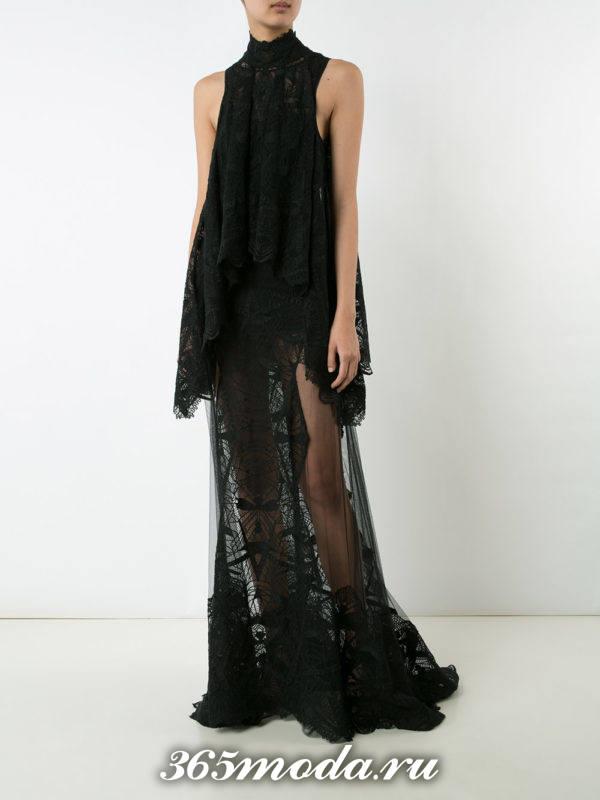 новогоднее многослойное прозрачное макси платье для знака зодиака водолей