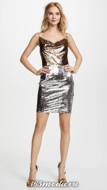 новогоднее блестящее мини платье для знака зодиака рыбы
