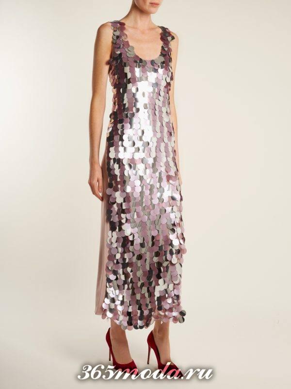 блестящее облегающее платье с пайетками для тематического новогоднего корпоратива