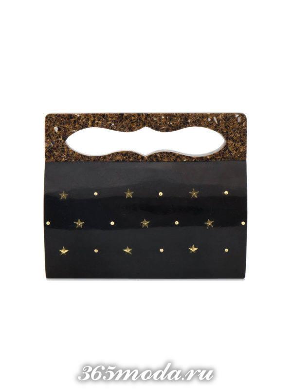черная сумочка с декором для новогоднего корпоратива