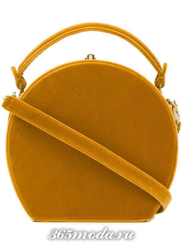 бархатная круглая сумочка для новогоднего корпоратива
