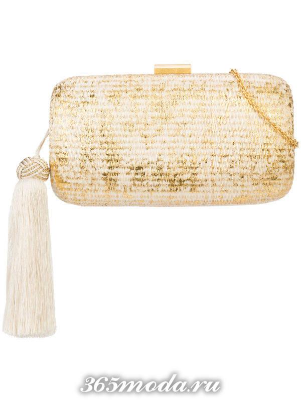 блестящая сумочка с кисточкой для новогоднего корпоратива