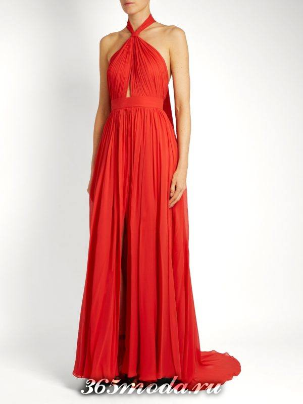 c чем носить длинное коралловое платье в греческом стиле