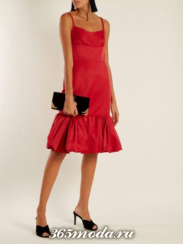c чем носить коралловое миди платье русалка