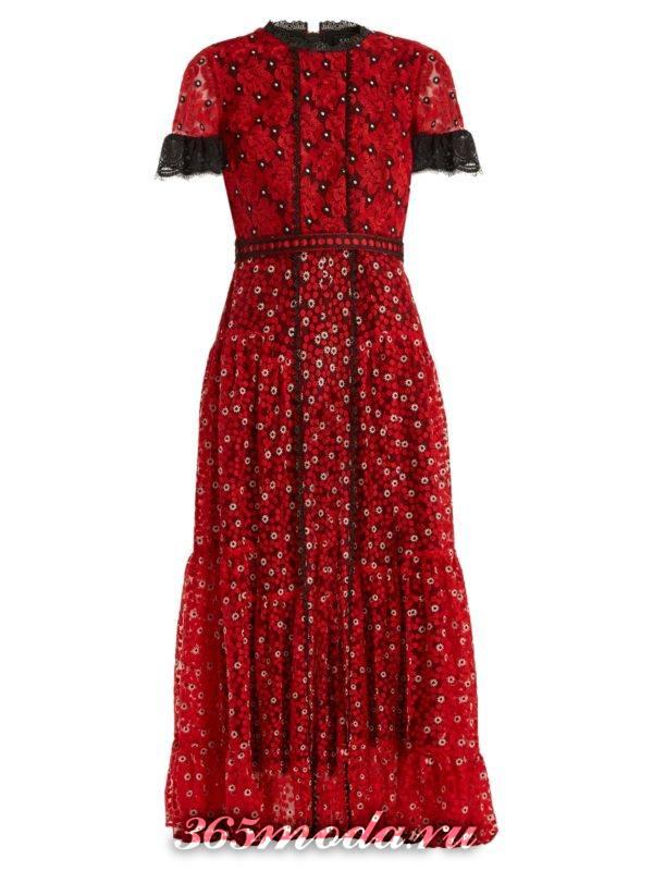 коралловое платье миди с цветочным принтом c чем носить