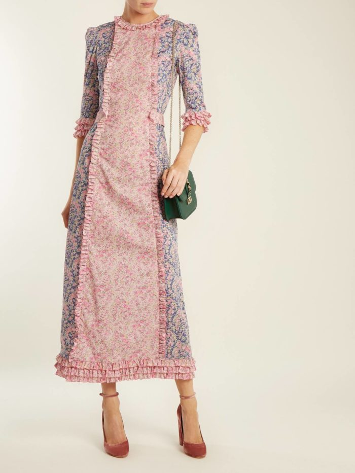 Модные женские платья осень-зима 2019-2020: миди с принтом