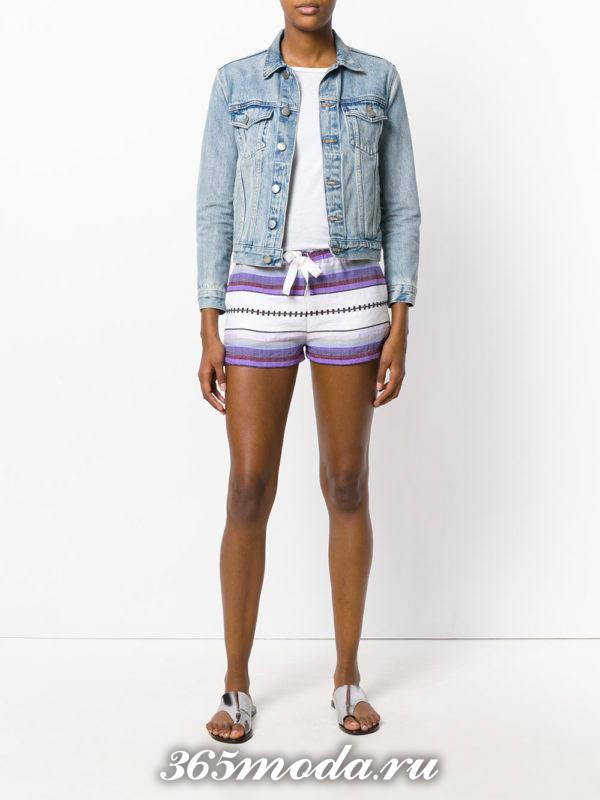 пляжные короткие полосатые шорты