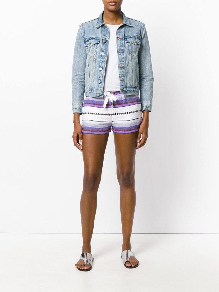 Пляжная мода 2019: короткие полосатые шорты