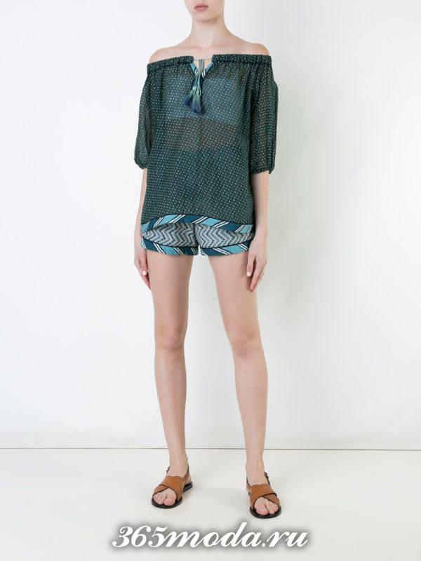 пляжные короткие шорты с геометрическим принтом