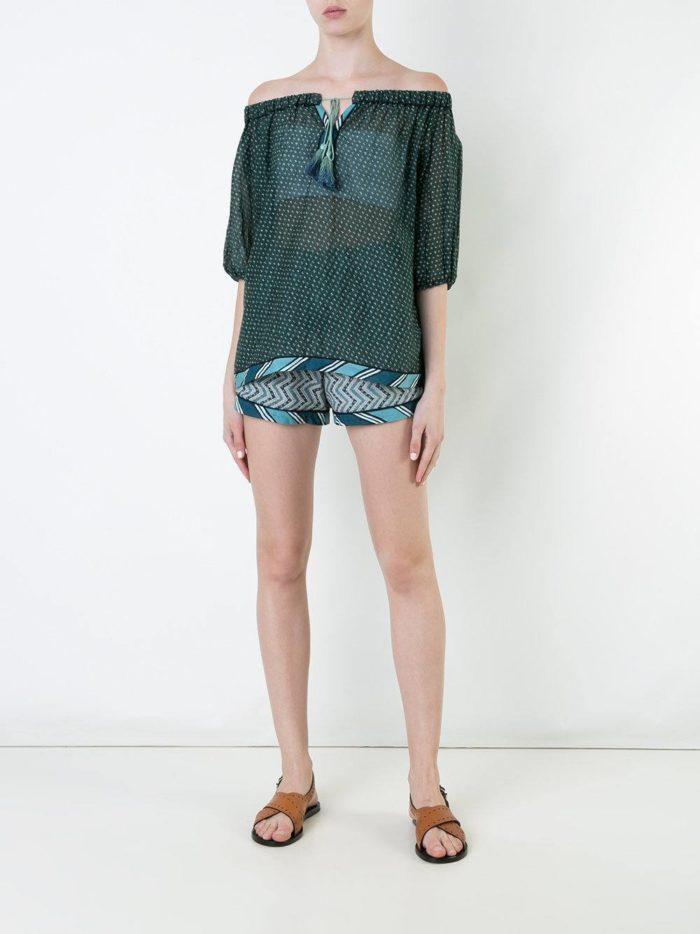 короткие шорты с геометрическим принтом