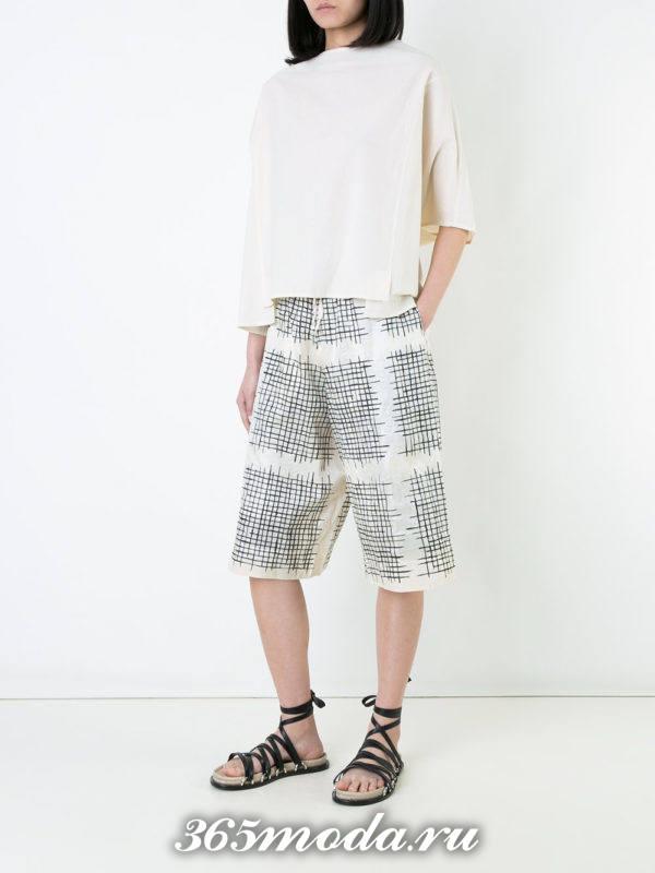 пляжные длинные шорты с принтом